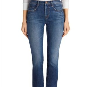J Brand Amelia Midrise Straight Jeans in Decoy
